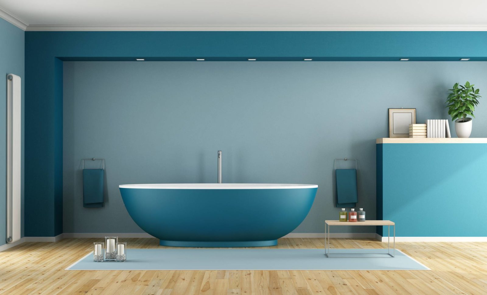 salle de bains carrelage baignoire